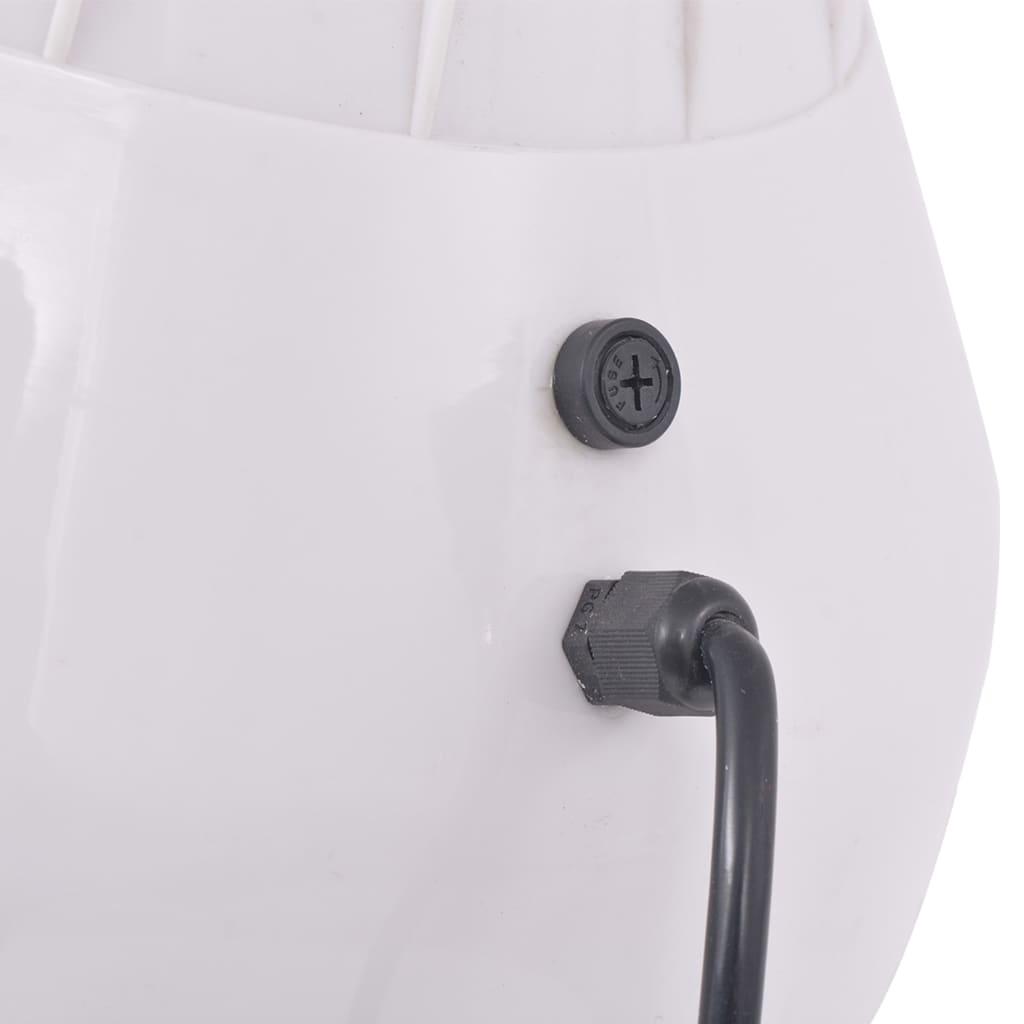 vidaXL Cască de uscare păr pentru coafor, alb, 180 cm