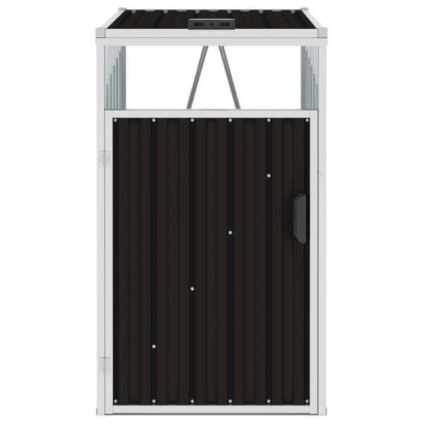 vidaXL Magazie pentru pubelă, maro, 72 x 81 x 121 cm, oțel