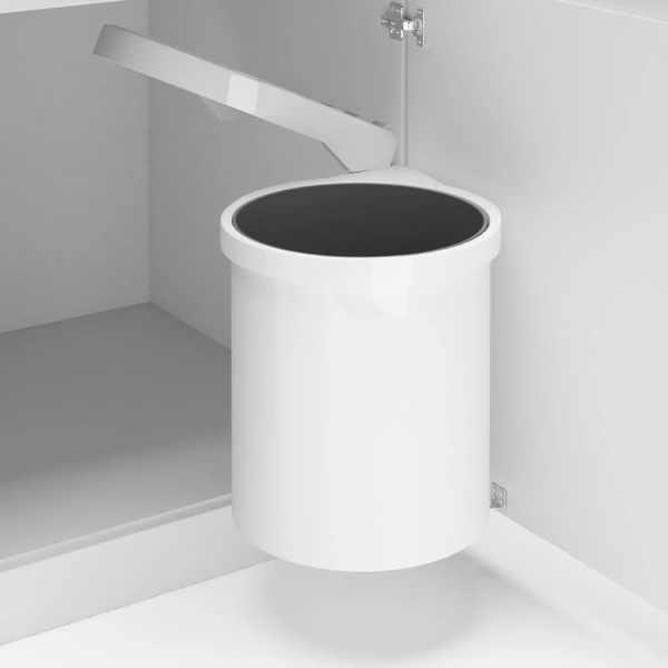 vidaXL Coș de gunoi încorporat de bucătărie, 12 L, plastic