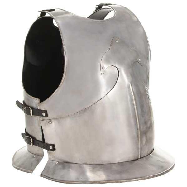 vidaXL Replică armură cavaler medieval, jocuri roluri, argintiu, oțel