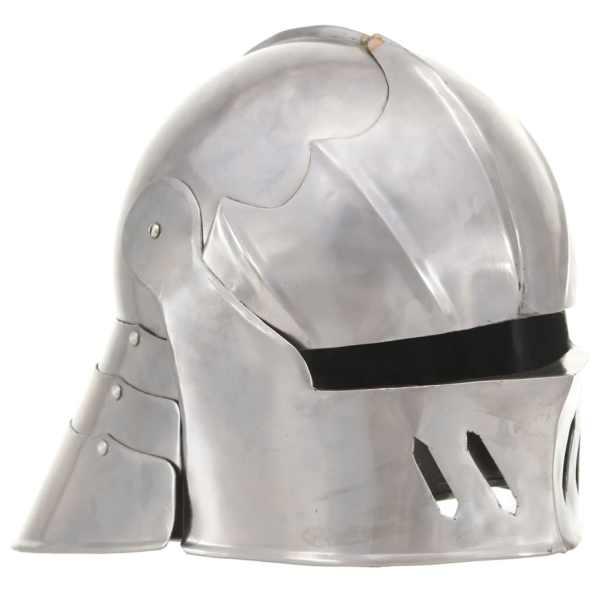 vidaXL Coif cavaler medieval antichizat jocuri pe roluri argintiu oțel