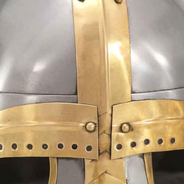 vidaXL Coif medieval aspect antic, jocuri pe roluri, argintiu, oțel