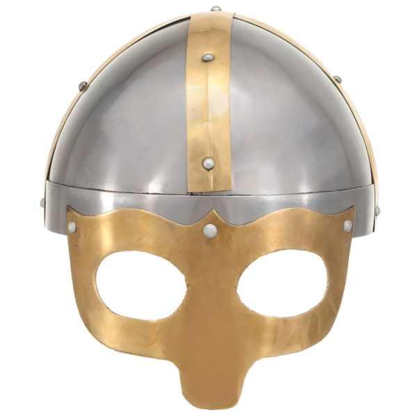 vidaXL Coif de viking, aspect antic, jocuri pe roluri, argintiu, oțel