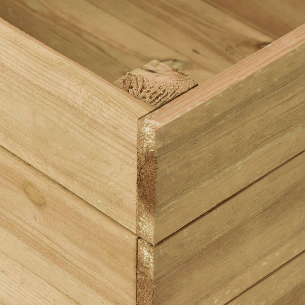 vidaXL Strat înălțat de grădină, 150x50x54 cm, lemn de pin tratat