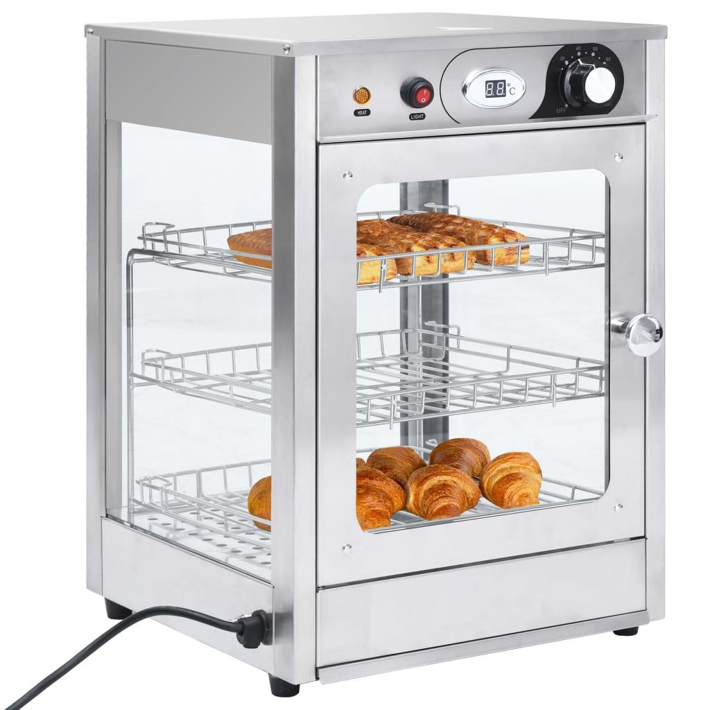 vidaXL Încălzitor alimente Gastronorm electric 600 W oțel inoxidabil