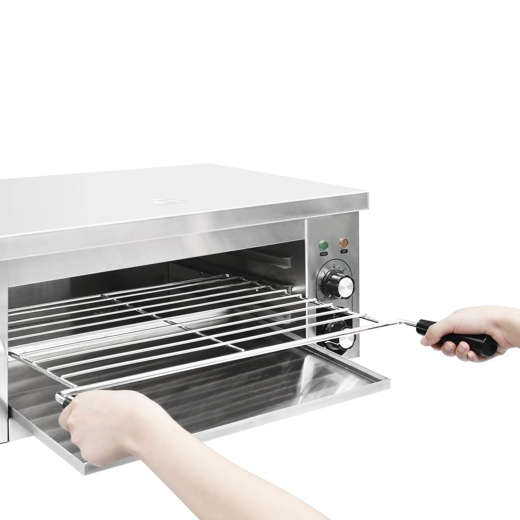 vidaXL Grătar Salamander electric Gastronorm, 2500 W, oțel inoxidabil
