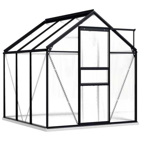 vidaXL Seră cu cadru de bază, antracit, 3,61 m², aluminiu
