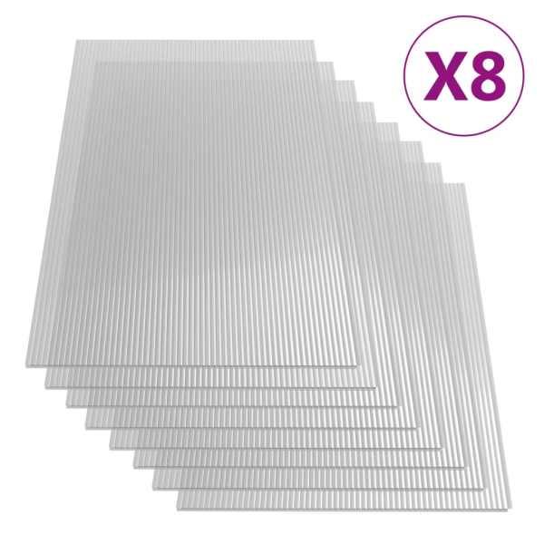 vidaXL Plăci din policarbonat, 8 buc., 121 x 60 cm, 4 mm