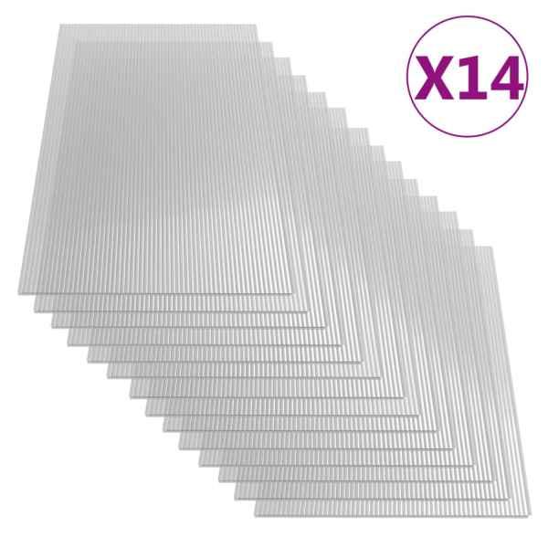 vidaXL Plăci din policarbonat, 14 buc., 121 x 60 cm, 4 mm