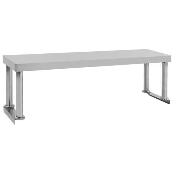 vidaXL Raft superior masă de lucru, 120x30x35 cm, oțel inoxidabil