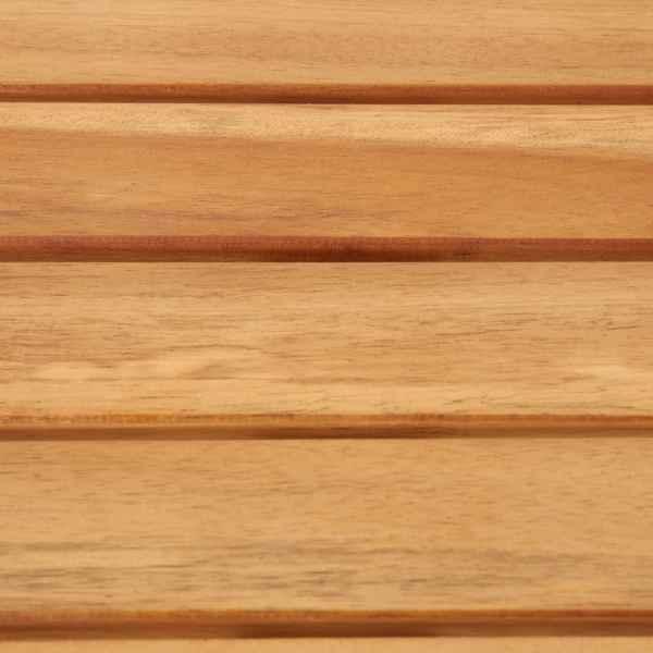 vidaXL Masă de bar, 120x60x105 cm, lemn masiv acacia & oțel inoxidabil