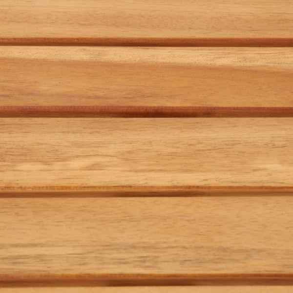 vidaXL Masă de bar, 160x60x105 cm, lemn masiv acacia & oțel inoxidabil