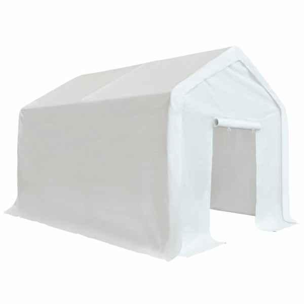 vidaXL Cort de depozitare, alb, 3 x 6 m, PE