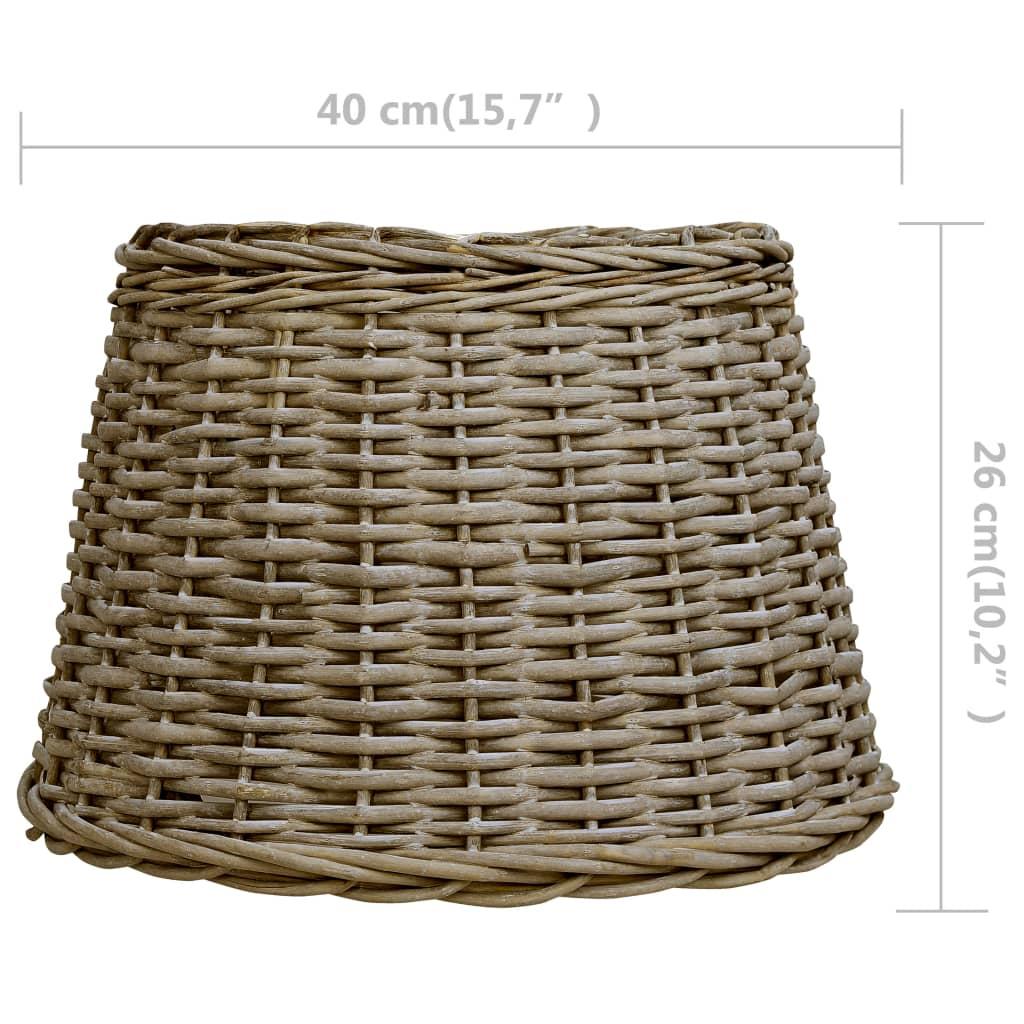 vidaXL Abajur de lampă, maro, 40 x 26 cm, răchită