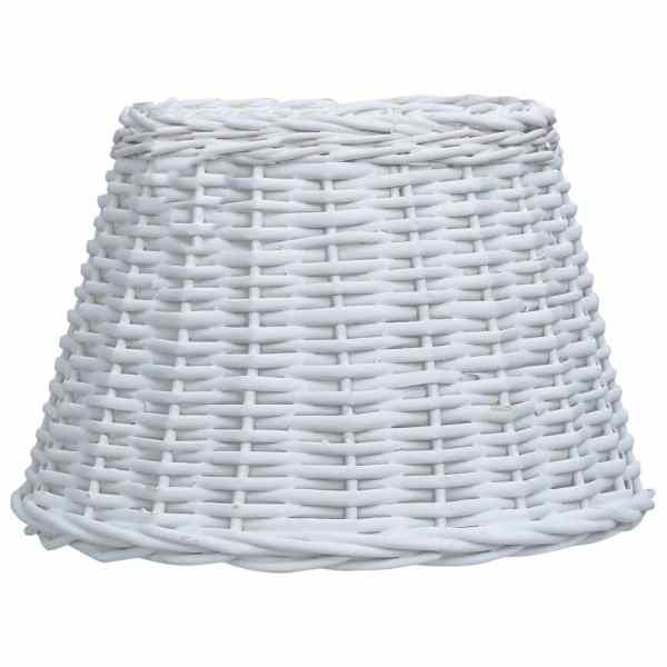 vidaXL Abajur de lampă, alb, 40 x 26 cm, răchită