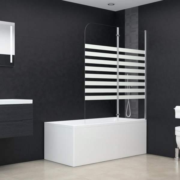 vidaXL Cabină de baie, 120 x 140 cm, sticlă securizată, dungi