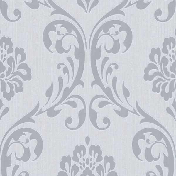 Role de tapet nețesut, 4 buc., alb, 0,53 x 10 m, ornamental