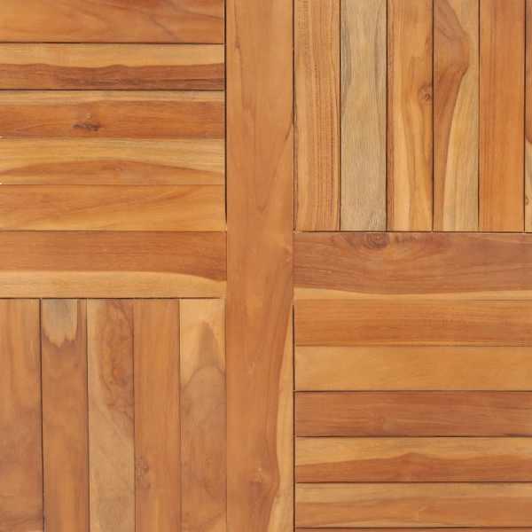 vidaXL Blat de masă pătrată, 90 x 90 x 2,5 cm, lemn masiv de tec