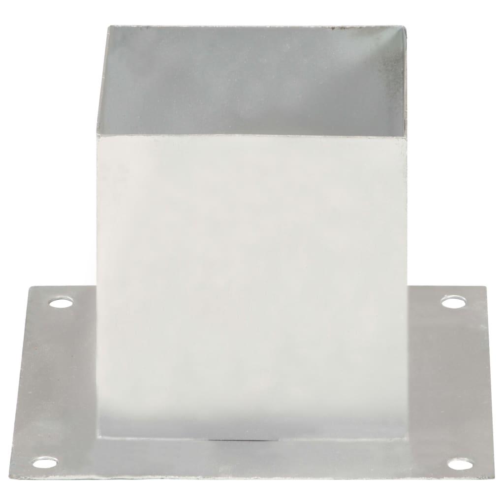 vidaXL Suporți stâlp, 4 buc., metal galvanizat, 141 mm