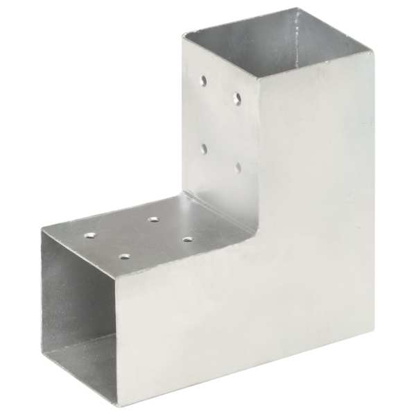 Conectori de grindă, formă L, 4 buc, 81×81 mm, metal galvanizat