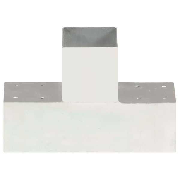 Conector de grindă, formă T, 91 x 91 mm, metal galvanizat
