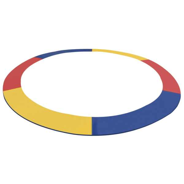 vidaXL Bandă de siguranță trambulină rotundă de 4,57 m multicolor PVC