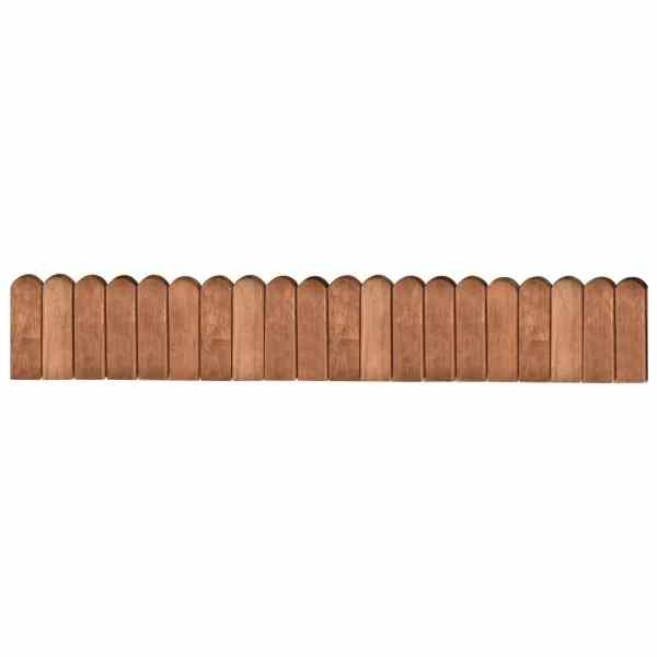 vidaXL Rolă de bordură, maro, 120 cm, lemn de pin tratat