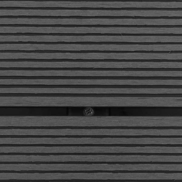 vidaXL Duș de exterior cu cădiță, WPC și oțel inoxidabil