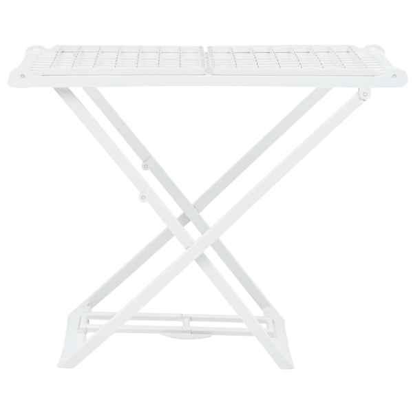 vidaXL Uscător de rufe pliabil, alb, plastic