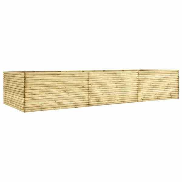 vidaXL Jardieră de grădină înaltă, 450x50x96 cm, lemn de pin tratat