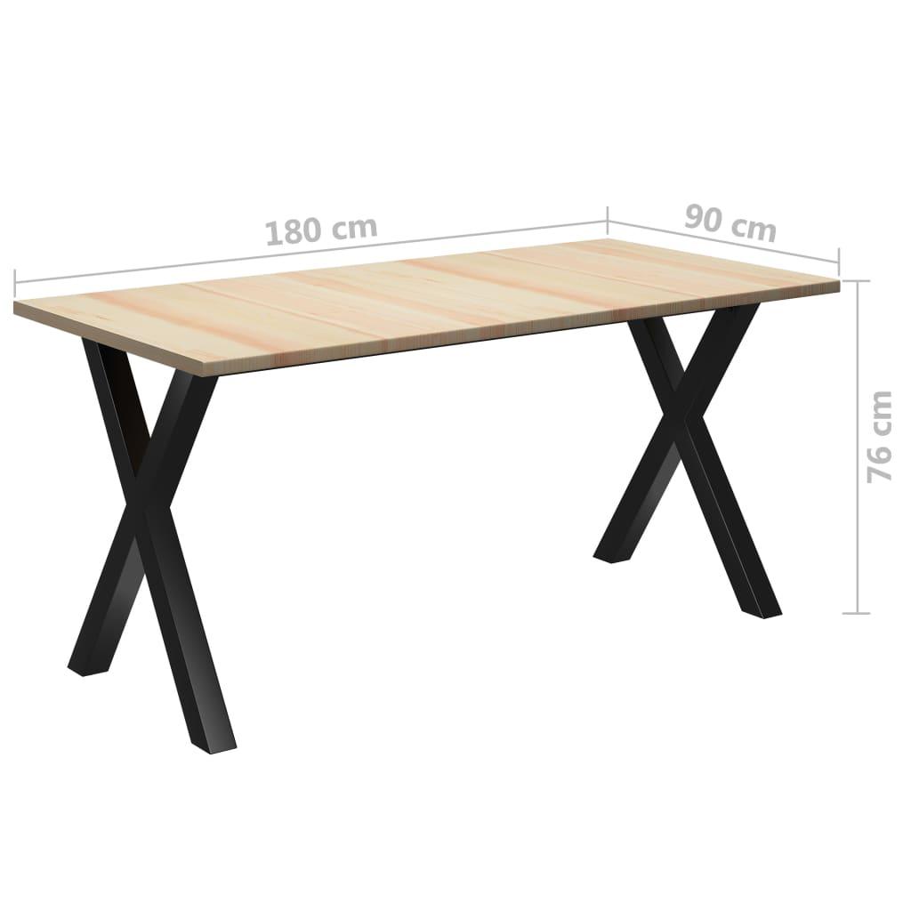 vidaXL Masă de bucătărie, 180 x 90 x 76 cm, lemn de pin