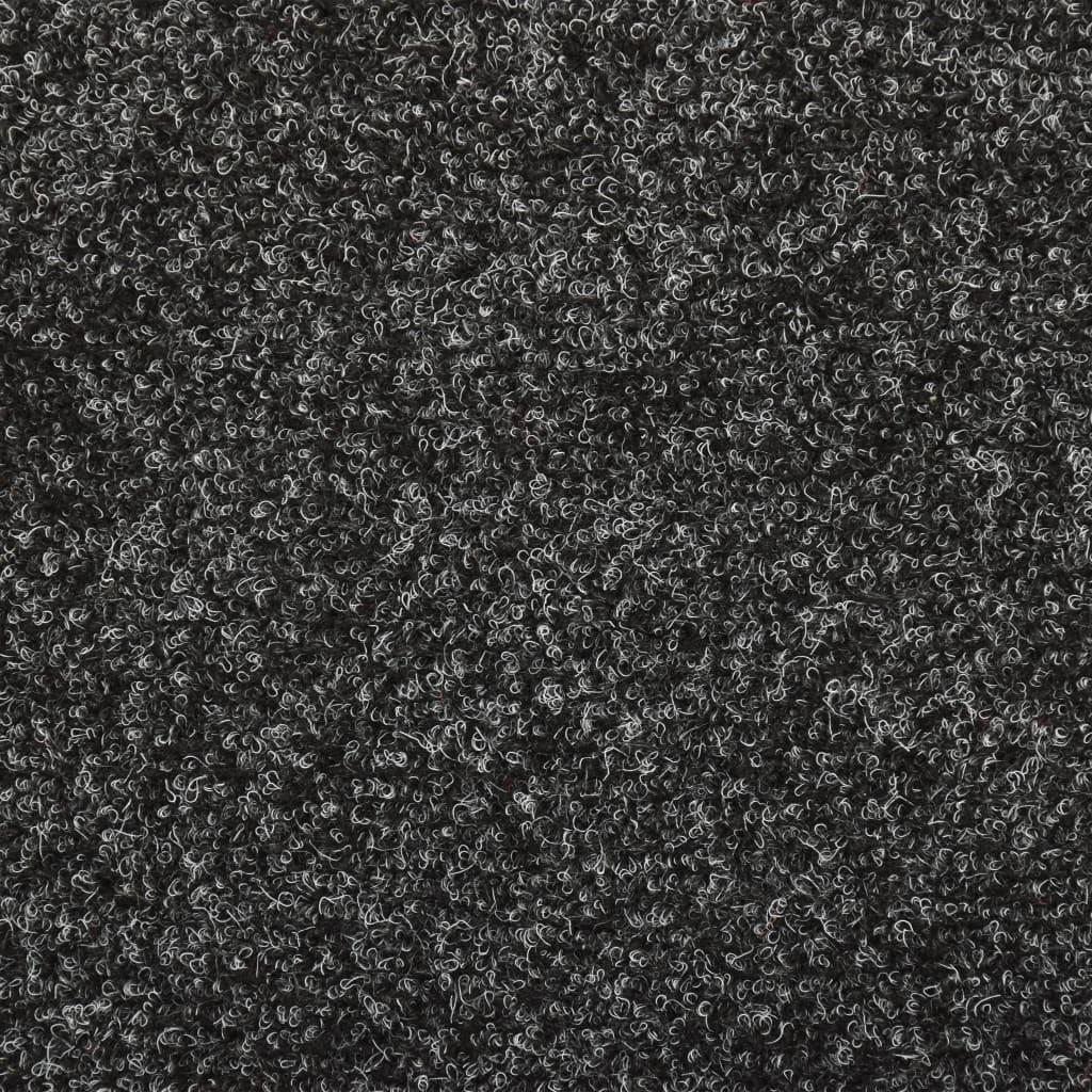 Covorașe de scări cusătură punch, 15 buc., gri, 65 x 25 cm