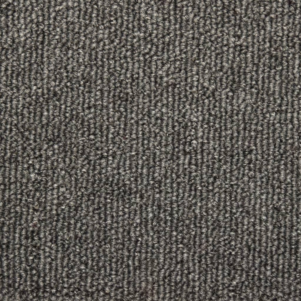 Covorașe de trepte de scară, 15 buc., gri închis, 65 x 25 cm