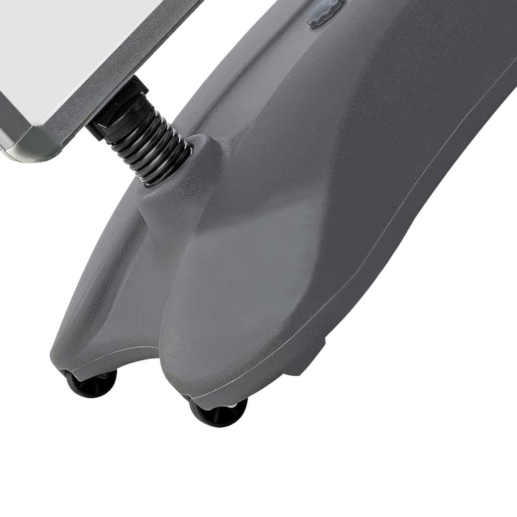 vidaXL Suport de afiș A1, postament cu apă, gri, aliaj de aluminiu