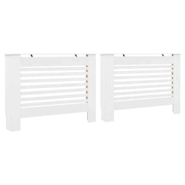 vidaXL Măști de calorifer, 2 buc., alb, 112 x 19 x 81,5 cm, MDF