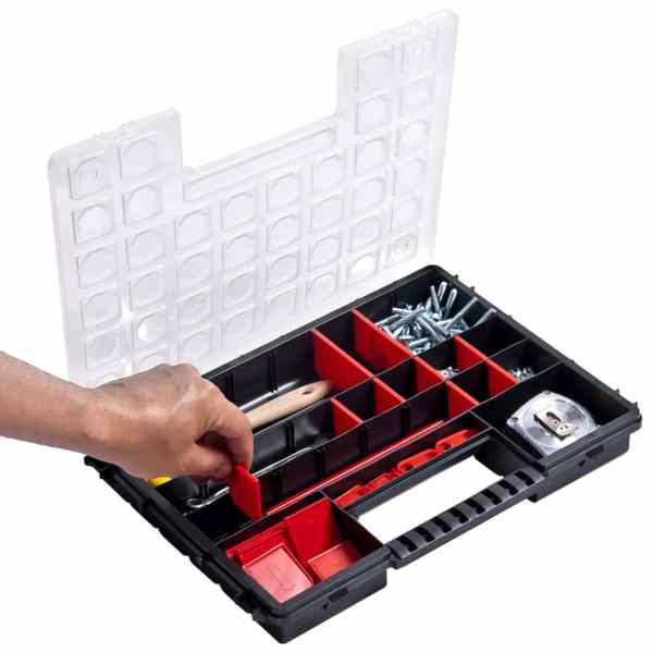 Cutii sortare 2 buc separatoare reglabile 385x283x50 mm plastic