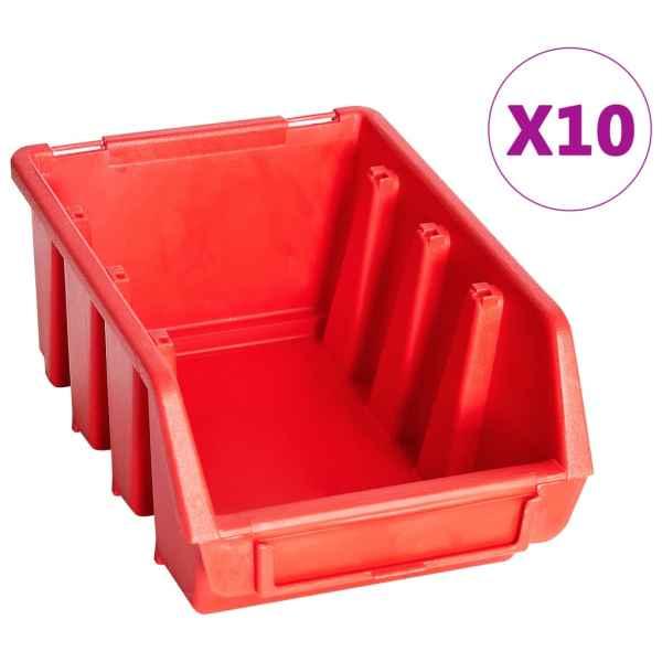 vidaXL Set cutii depozitare 29 piese cu panouri de perete, roșu&negru