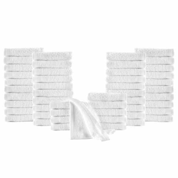 vidaXL Prosoape oaspeți, 50 buc., alb, 30 x 50 cm, bumbac, 350 gsm