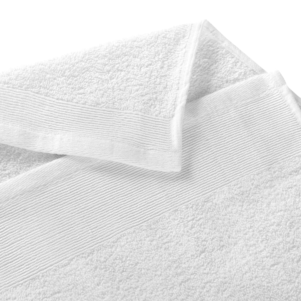 Prosoape de mâini, 25 buc., alb, 50 x 100 cm, bumbac, 350 gsm