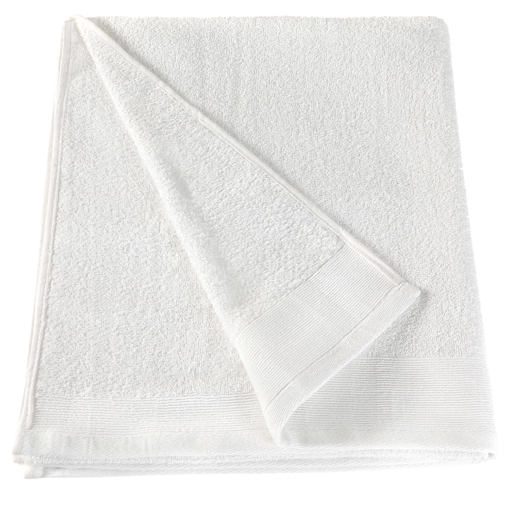 Prosoape de mâini, 5 buc., alb, 50 x 100 cm, bumbac, 450 gsm