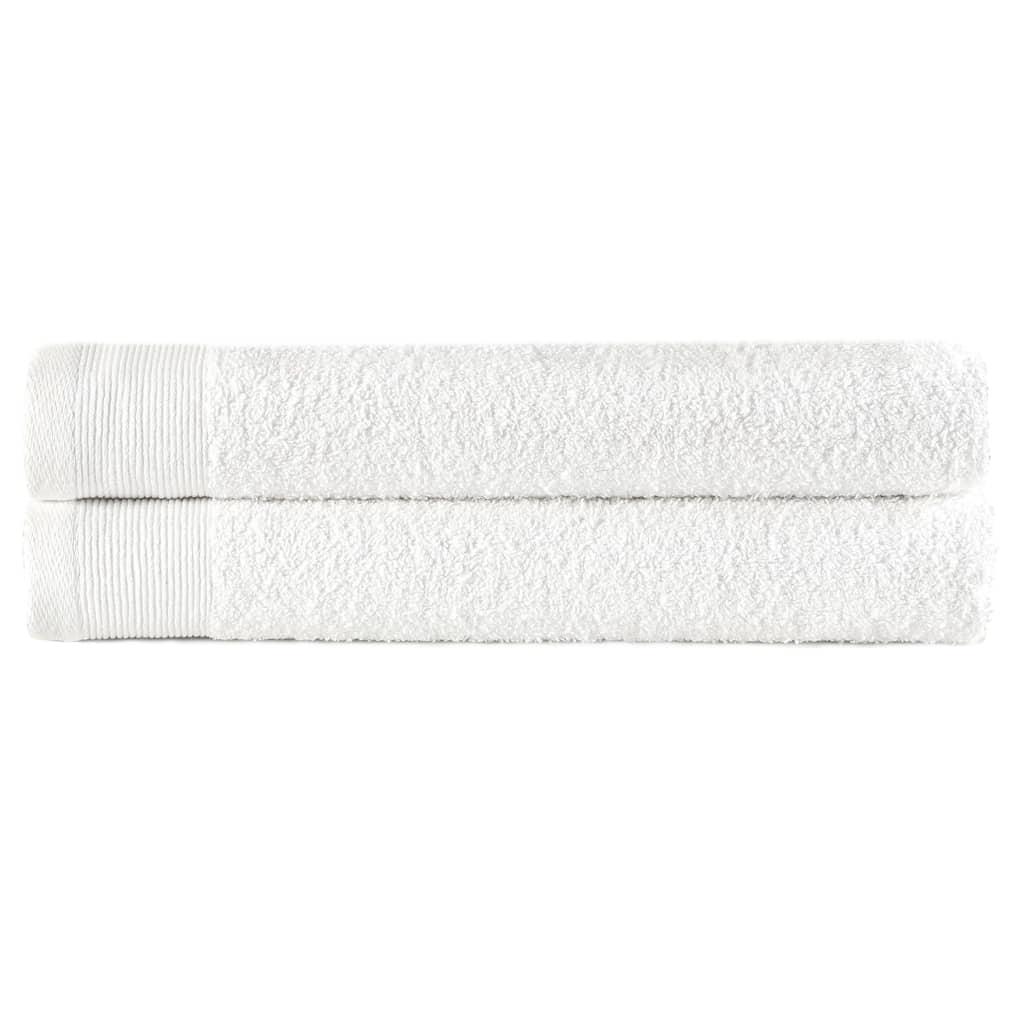 vidaXL Prosoape de mâini, 2 buc., alb, 50 x 100 cm, bumbac, 450 gsm