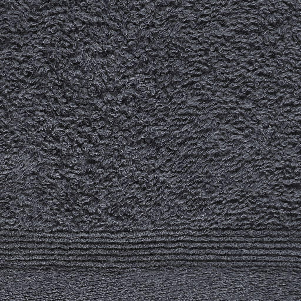 Prosoape oaspeți, 10 buc, antracit, 30 x 50 cm, bumbac, 450 gsm
