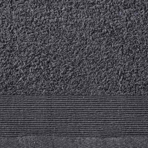 vidaXL Prosoape de baie, 2 buc., antracit, 100×150 cm, bumbac, 450 gsm