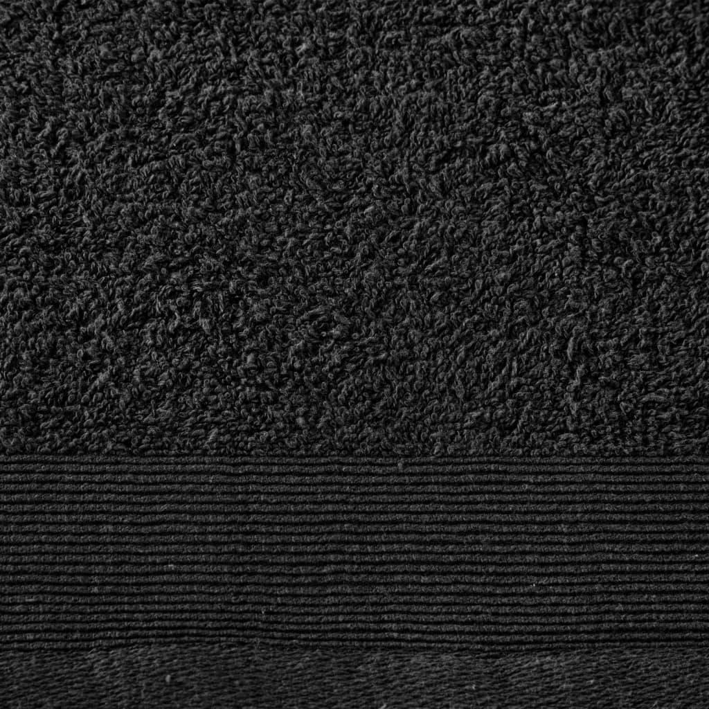 Prosoape de duș, 2 buc., negru, 70 x 140 cm, bumbac, 450 gsm