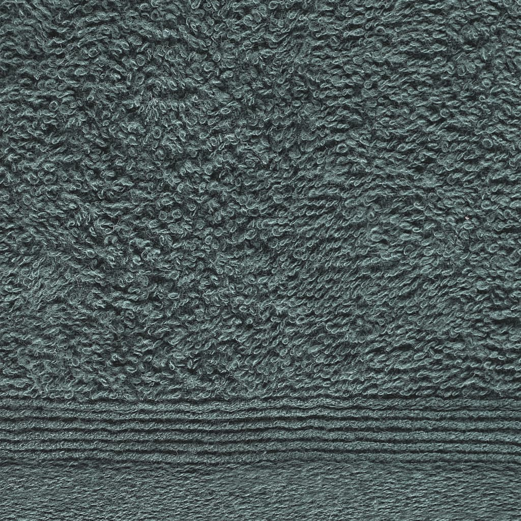 vidaXL Prosoape oaspeți, 10 buc., verde, 30 x 50 cm, bumbac, 450 gsm