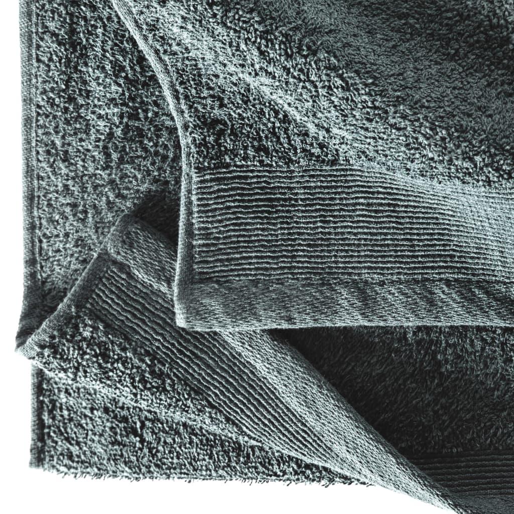 Set prosoape de saună, 2 buc, verde, 80×200 cm, bumbac, 450 gsm