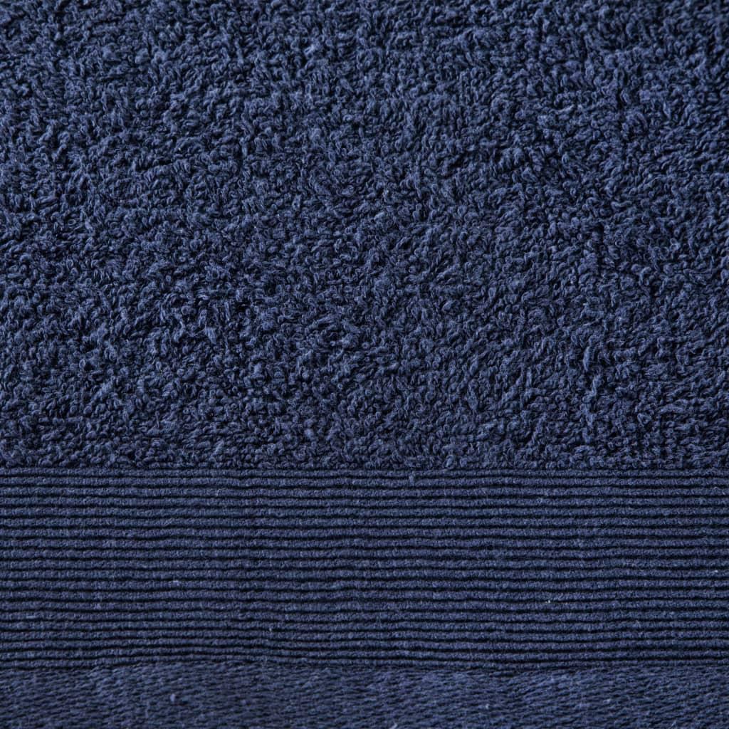 Prosoape de baie, 5 buc, bleumarin, 100×150 cm, bumbac, 450 gsm