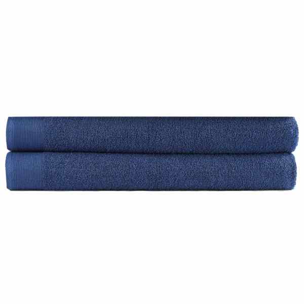 vidaXL Prosoape de saună, 2 buc, bleumarin, 80×200 cm, bumbac, 450 gsm