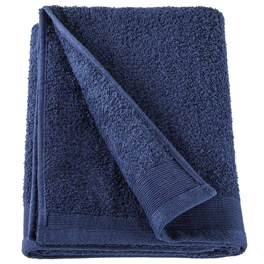 Prosoape de saună, 2 buc, bleumarin, 80×200 cm, bumbac, 450 gsm