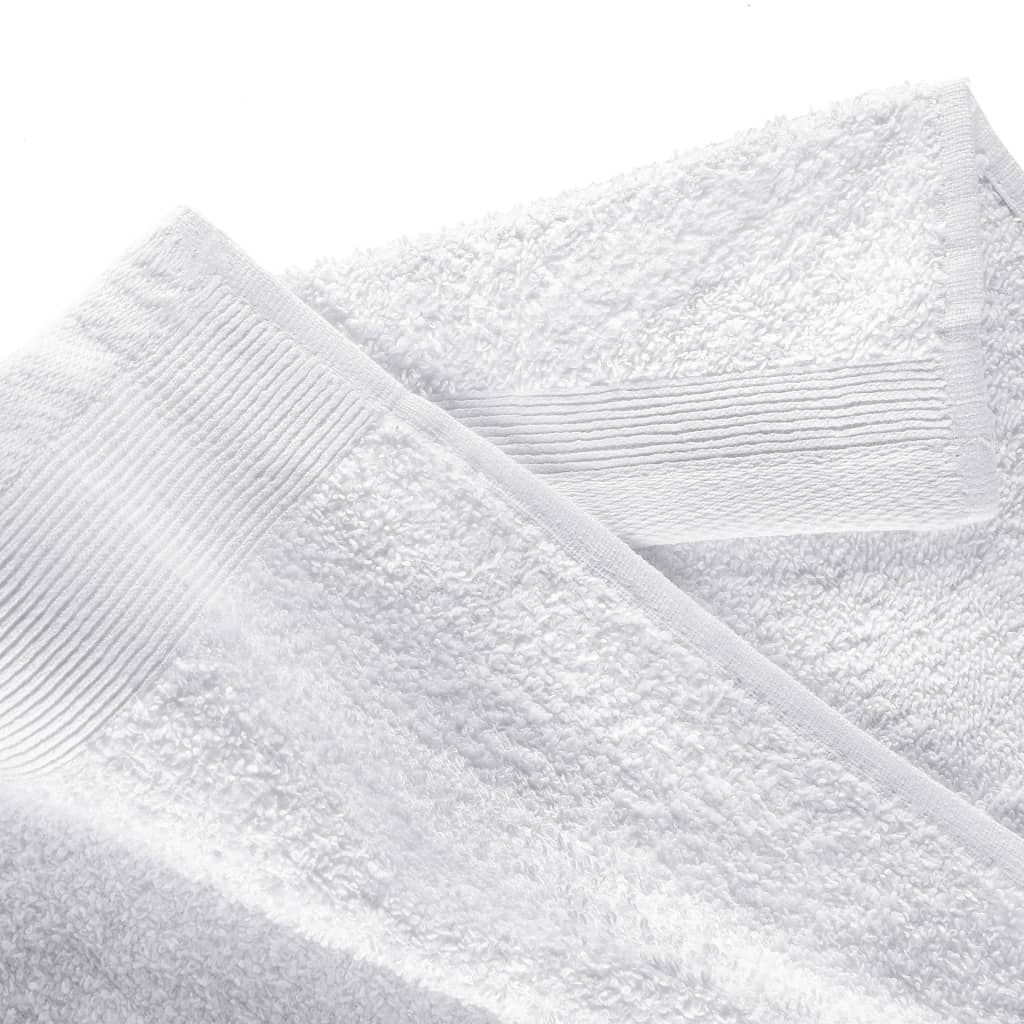 Set prosoape, 12 buc., alb, bumbac, 450 gsm